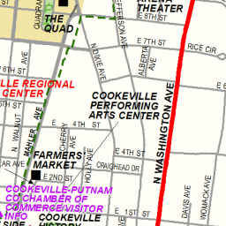 cookeville tennessee map
